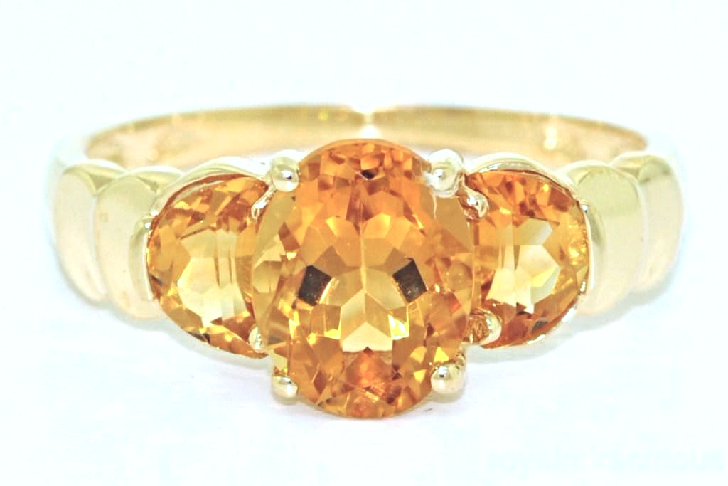 Citrine Ring 14K Yellow Gold or 14K White Gold by Elie Int.