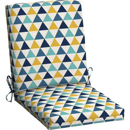Mainstays Outdoor Patio Dining Chair Cushion, Multiple Patterns