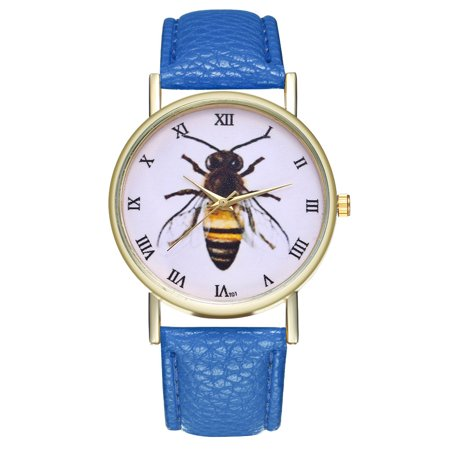 Honey Bee Wedding - Vintage Honey Bee Insect Leather Watch for Women Men's Watch Birthday Wedding Gift IdeasT01