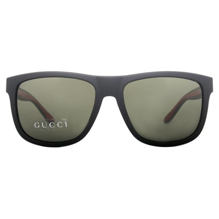 5052100e92546 Gucci - Gucci GG 1118 S M1A 1E Matte Black Green Red Wayfarer Men s  Sunglasses - Walmart.com