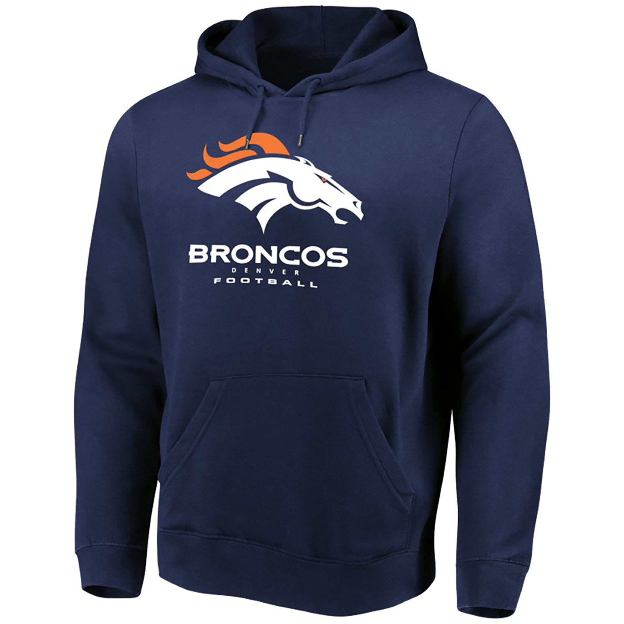 Men's Majestic Navy Denver Broncos Our Team Pullover Hoodie