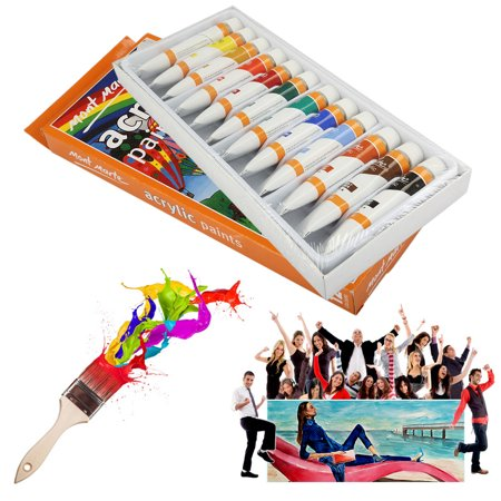12mlx12 Acrylic Paints Set Quick Drying Painting Tube Ideal for Artists (Quick Face Painting Ideas For Kids)