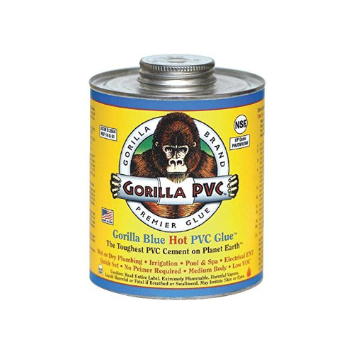GORILLA PVC CEMENT LLC 04102 Blue 4OZ Hot PVC Glue