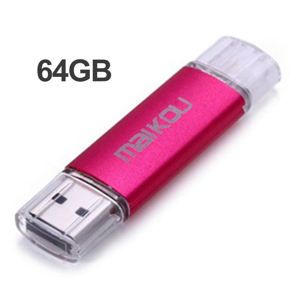 Colorful Metal 32G Mobile OTG USB Flash Drive USB2.0 Micro Pen Drive High Speed Memory Stick U Disk for Android Smartphones