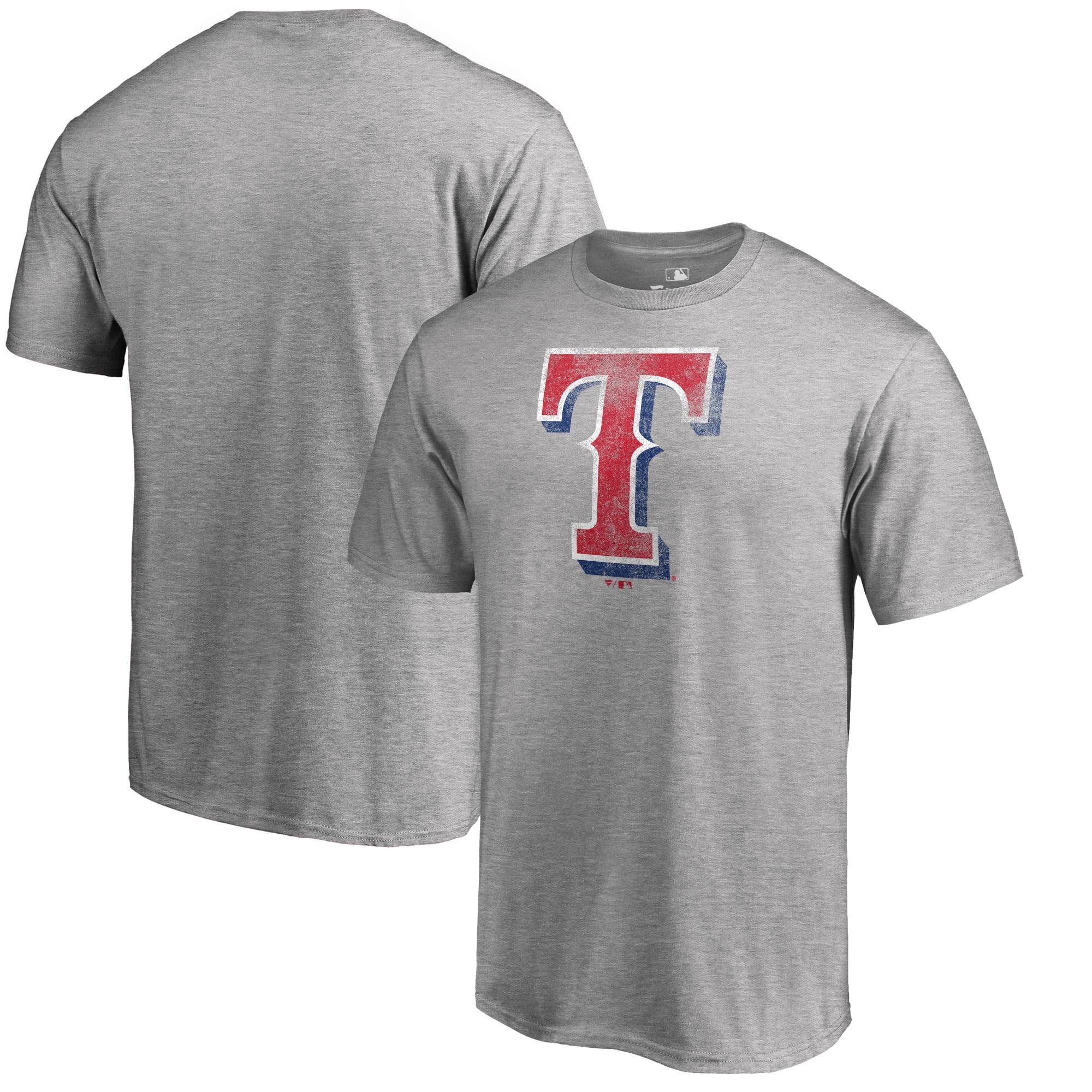 Texas Rangers Fanatics Branded Big & Tall Distressed Team T-Shirt - Heathered Gray