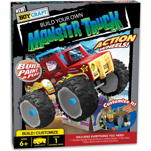 Boy Craft Build Your Own Monster Truck Kit by Horizon Group USA