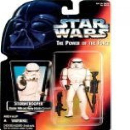 1995 Hasbro Star Wars Stormtrooper with Blaster Rifle and Heavy Infantry Cannon Holographic (New Stormtrooper Helmet)