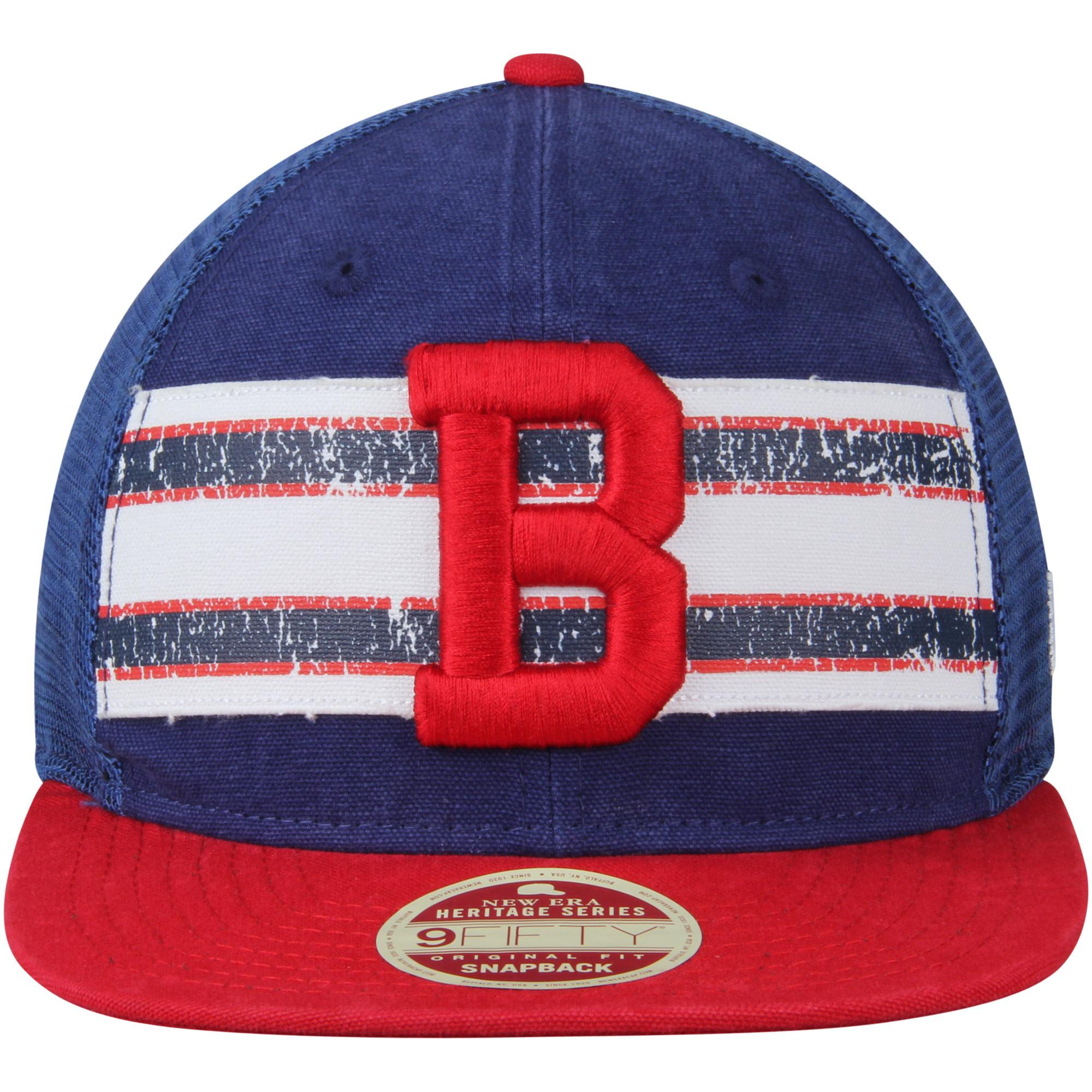 huge selection of 76ef3 435e9 Boston Red Sox New Era Vintage Throwback Stripe 9FIFTY Adjustable Snapback  Hat - Navy Red - OSFA - Walmart.com
