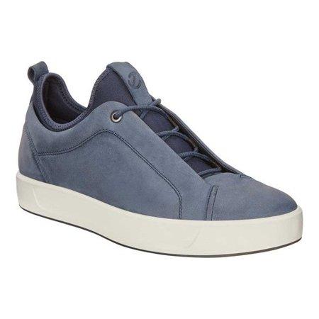 8 Ecco Sneaker Marine M 46 Low Men's Leather Soft eBrdCox