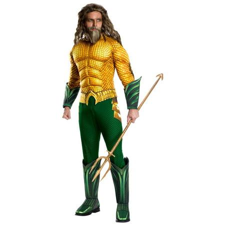 Halloween Aquaman Movie Adult Deluxe Aquaman Adult Costume](Aquaman Kids Costume)