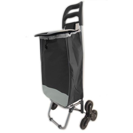 """Image of """"#1 Stair Climber Heavy Duty Rolling Shopping Utility Cart Dolly Trolley Multipurpose Tri Wheel 40LB Capacity Polyester Knapsack Bag Laundry Grocery Water Resistant Rubber-Assorted"""""""