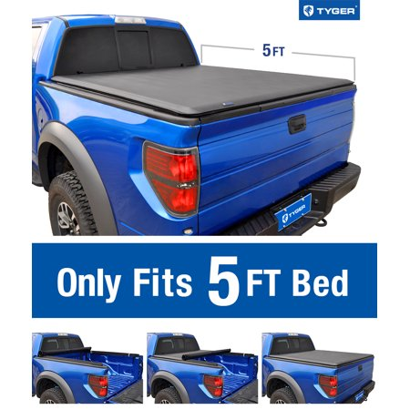 Tyger Auto T1 Roll Up Truck Bed Tonneau Cover TG-BC1N9034 works with 2005-2019 Nissan Frontier; 2009-2014 Suzuki Equator | Fleetside 5' Bed | For models with or without the Utili-track