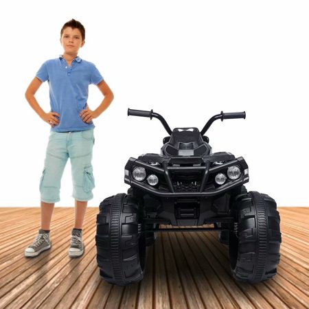 Akoyovwerve LEADZM 12 Volt Ride On Toys, Kids Cars to Tide In 12V,ATV Double Drive Black