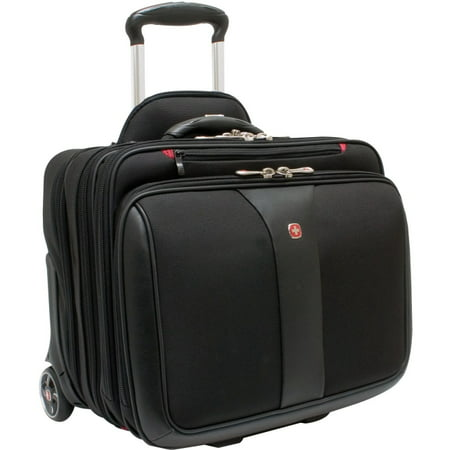 Swiss Gear Patriot Rolling Laptop Computer Case Black