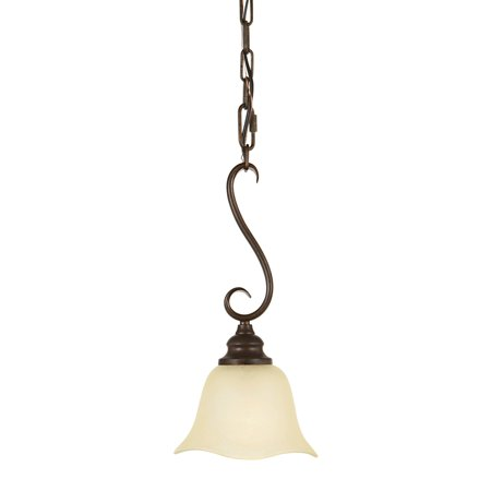 Feiss Morningside Mini Pendant Light - 7W in. Grecian (Morningside Grecian Bronze One Light)