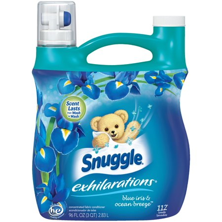 Snuggle Exhilarations Liquid Fabric Softener, Blue Iris & Ocean Breeze, 96 Ounce, 112 Loads