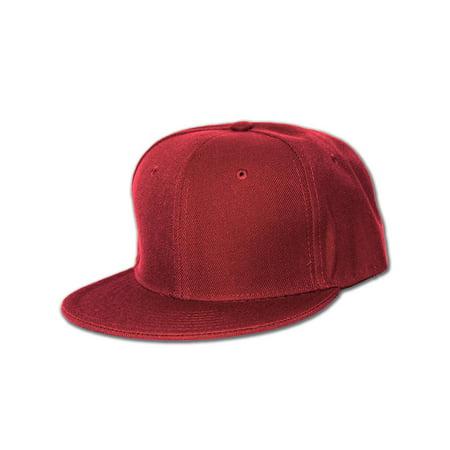 Bill Fitted Cap - New Blank Baseball Flat Bill Fitted Hat Cap