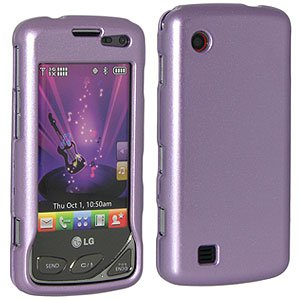 Premium Polished Purple Snap On Hard Shell Case for LG Chocolate Touch VX8575