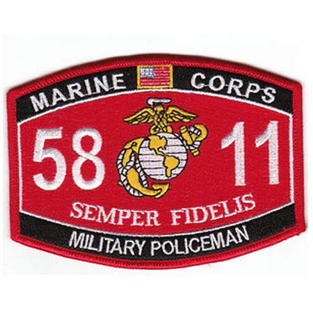 Usmc Military Patch - USMC MARINE CORPS 5811 MILITARY POLICEMAN MP PATCH SEMPER FI COP GUARD SECURITY