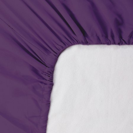 "15"" Deep Pocket Cotton Fitted Sheet Breathable Bottom Sheets Queen Dark Purple - image 1 of 1"