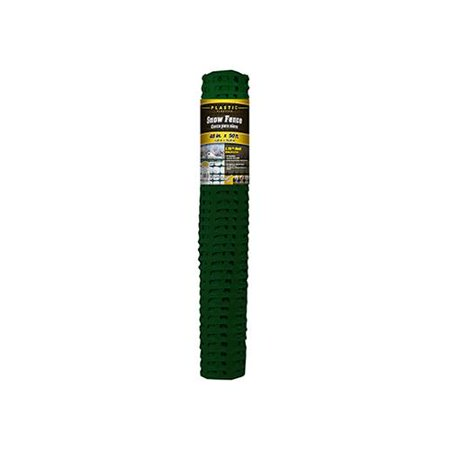 - Midwest Air Tech/Import 889221A Snow/Safety Fence, Green Plastic, 4 x 50-Ft.