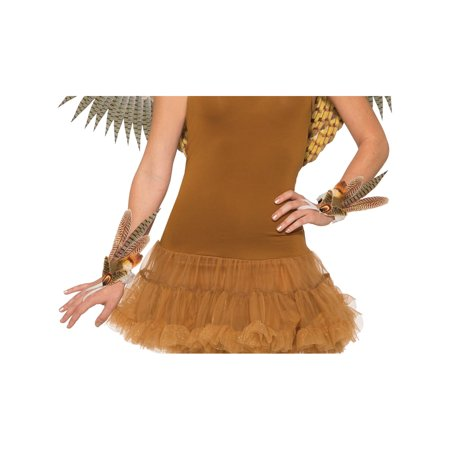 Adults Non-Feathered Nocturnal Barn Owl Wristlets Costume Accessory