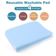 24 Pack Bed Pad Standard Reusable Underpad Washable For Adults Incontinence Pad Blue + White 45 * 60cm,Ultra Absorbent Incontinence Protection Pad