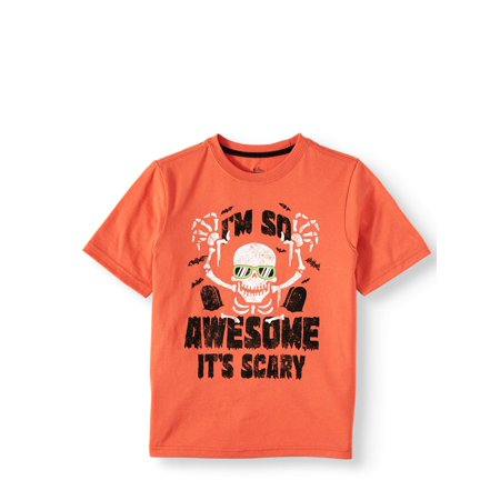 Wonder Nation Short-Sleeve Halloween Graphic Tee (Little Boys & Big Boys)