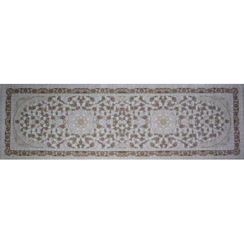Astoria Grand Paquin Hand Look Persian Wool Brown/Light Pink Area Rug