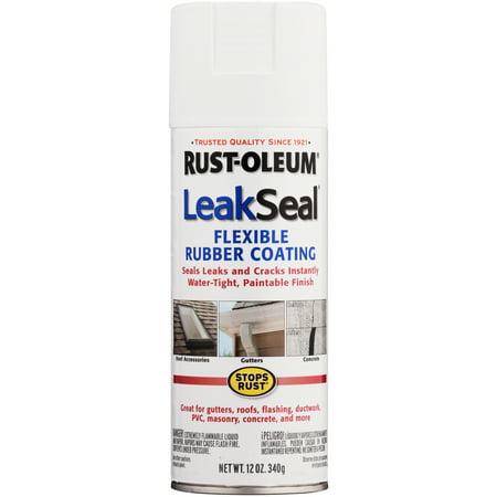 (3 Pack) Rust-Oleumî Stops Rustî LeakSealî Flexible Rubber Coating Semi-Smooth White Spray Paint 12 oz. Aerosol Can