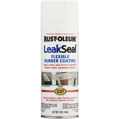 (3 Pack) Rust-Oleumî Stops Rustî LeakSealî Flexible Rubber Coating Semi-Smooth White Spray Paint 12 oz. Aerosol Can