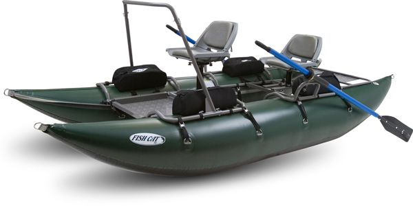 Outcast Fish Cat 13 Green Pontoon Boat by Outcast