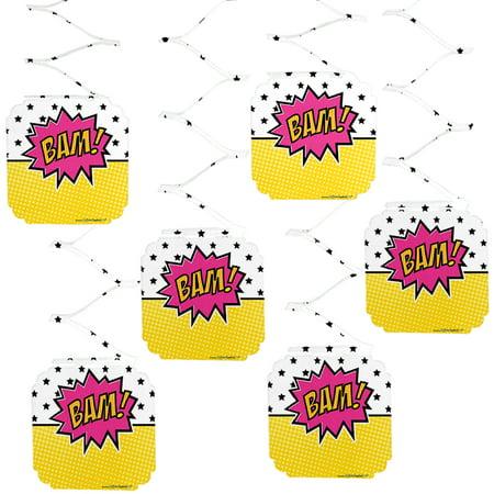 968d8cfadde Girl Superhero - Baby Shower or Birthday Party Hanging Decorations - 6  Count - Walmart.com