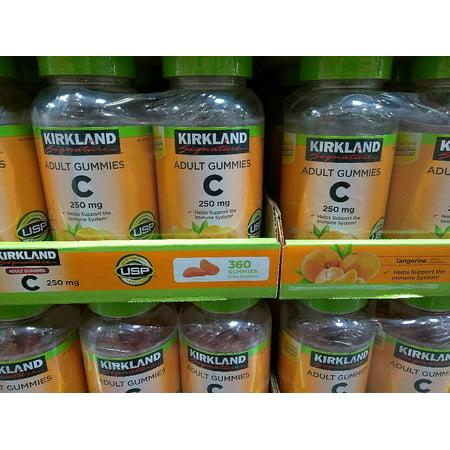 Kirkland Signature Vitamin C Adult Gummy 250 Mg   360 Count