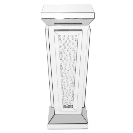 15 inch Crystal End Table in Clear Mirror Finish - Walmart.com
