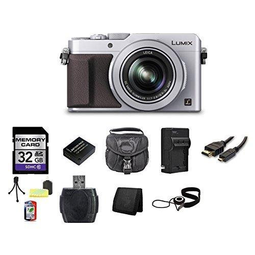 Panasonic LUMIX DMC-LX100 Digital Camera (Silver) 32GB Bundle 4