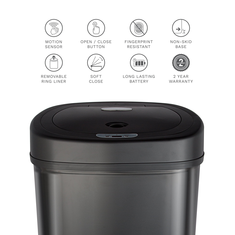 Nine Stars Motion Sensor Touchless 13 2-Gallon Trash Can, Multiple Colors