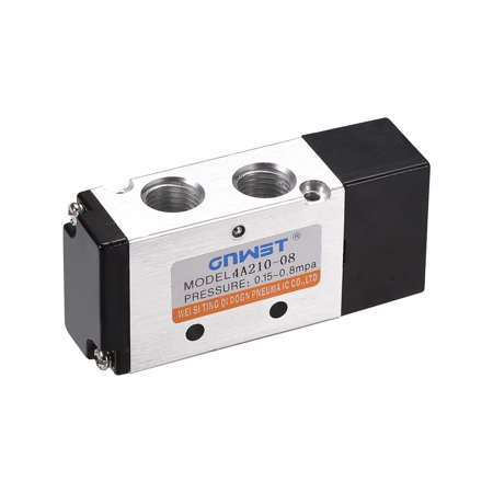 4A210-08 Pneumatic Air Single Piloted Electrical Control Solenoid Valve 5 Ways 2 Position 1/4