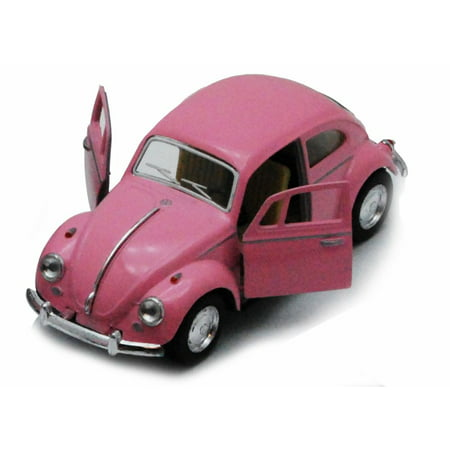 1967 Volkswagen Classical Beetle, Pink - Kinsmart 5375PK - 1/32 scale Diecast Model Toy Car (Brand New, but NOT IN BOX)