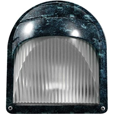 Dabmar Lighting W2970-VG 8 x 7.06 x 5 in. 120 V 60 watts Incandenscent Type Powder Coated Cast Aluminum Surface Mounted Wall Fixture Light, Verde