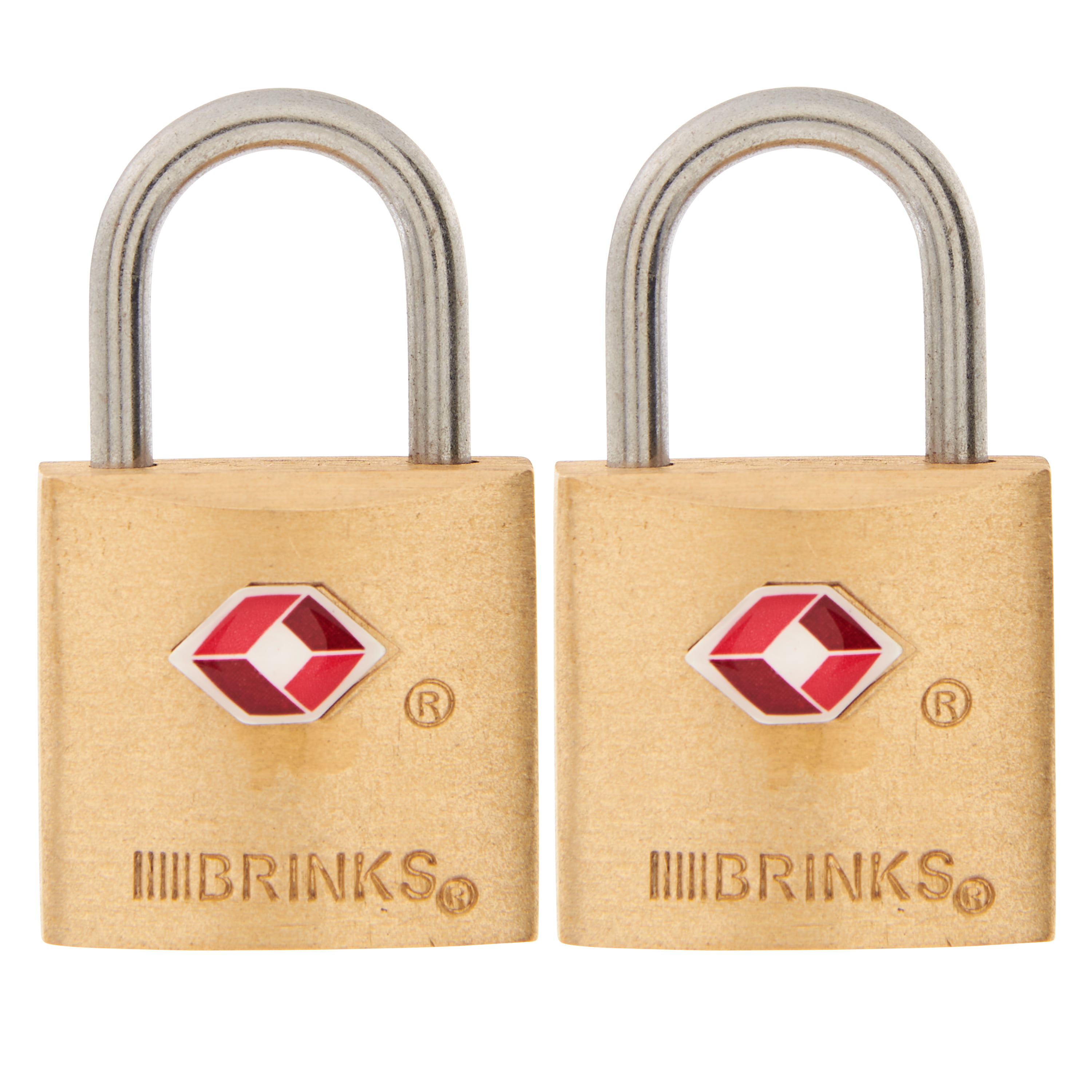 Brink/'s 4-PACK SOLID BRASS PADLOCK 22mm TSA TRAVEL LUGGAGE Weather-Resistant