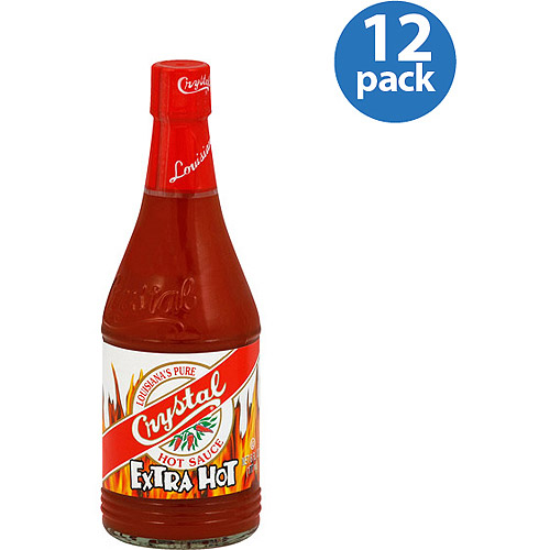 Crystal Extra-Hot Hot Sauce, 6 oz (Pack of 12)