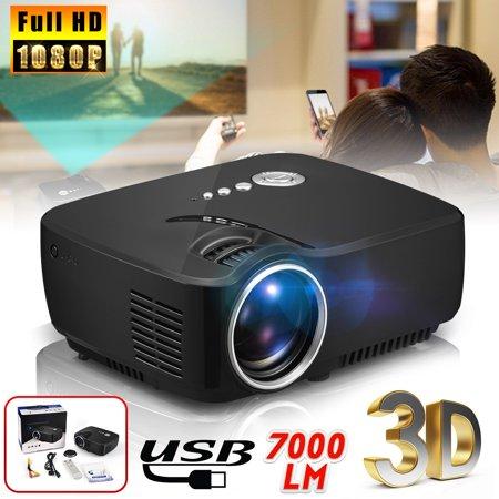 1080P Full HD Projector Home Theater Cinema LED 3D VGA USB