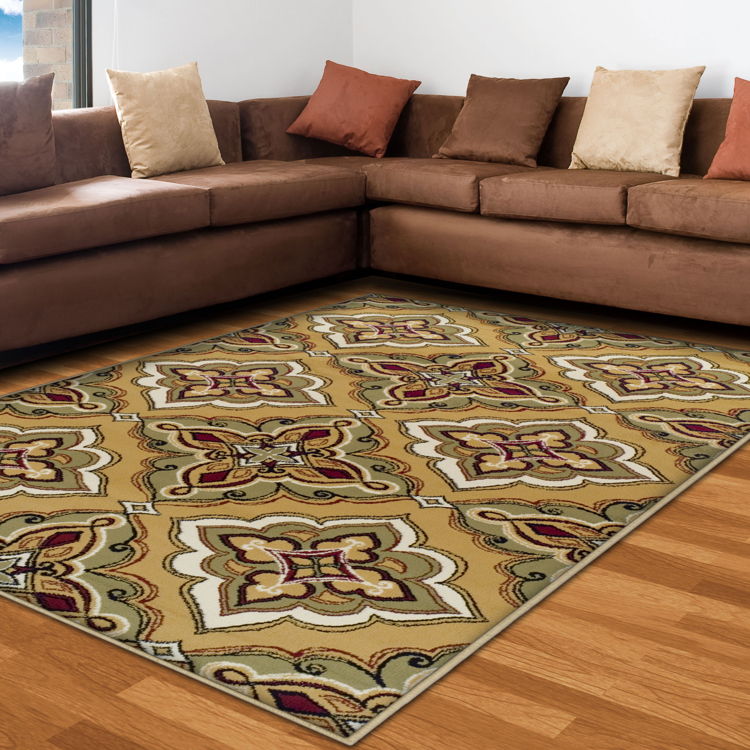 Superior Crawford Collection with 8mm Pile and Jute Backing, Moisture Resistant and Anti-Static Indoor Area Rug
