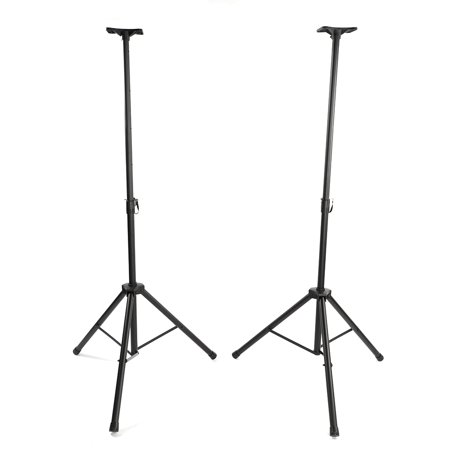 FeelGlad 2pcs Adjustable Tripod DJ PA Speaker Stands with Carry Waterproof Oxford  Bag Black - Audio Stand Thickened Adjustable Lifting