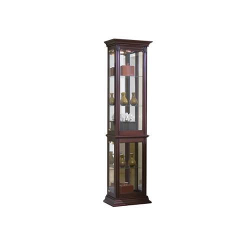 Sofaweb.com Brown Finish Side Door Entry Curio Cabinet