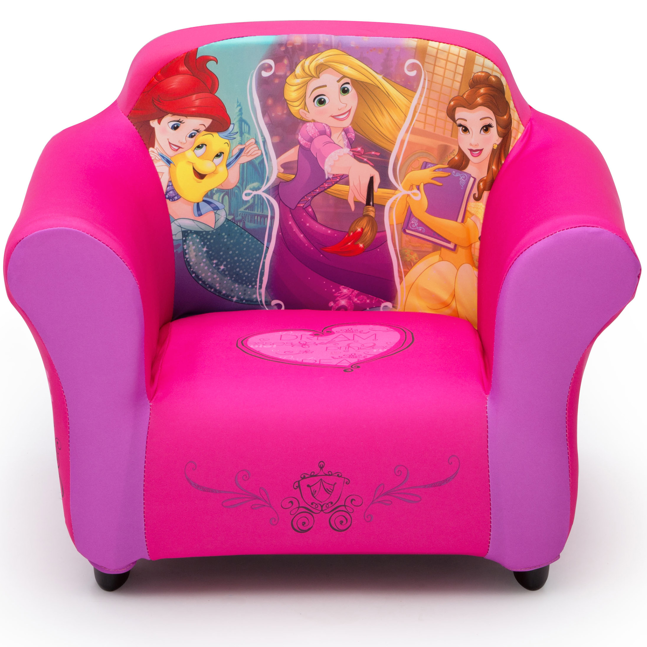 Disney Princess Plastic Frame Upholstered Chair