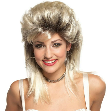 Rocker Groupie '80s Blonde Wig Adult Halloween Accessory - Halloween Musical Chairs