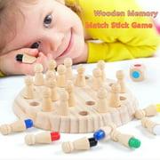 Excellent Wooden Memory Match Stick Game Kid Intelligence IQ Brain Teaser Game