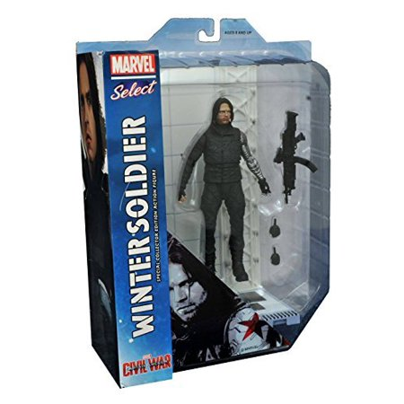 diamond select toys marvel select: captain america: civil war: winter soldier action